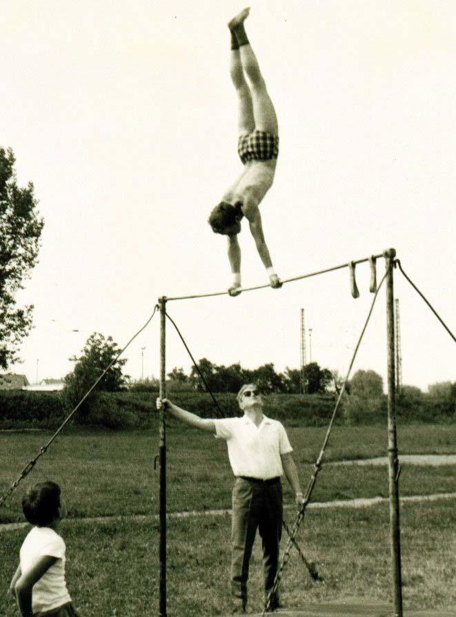 Peter Biedermann mit Übungsleiter Gerhard Lauber